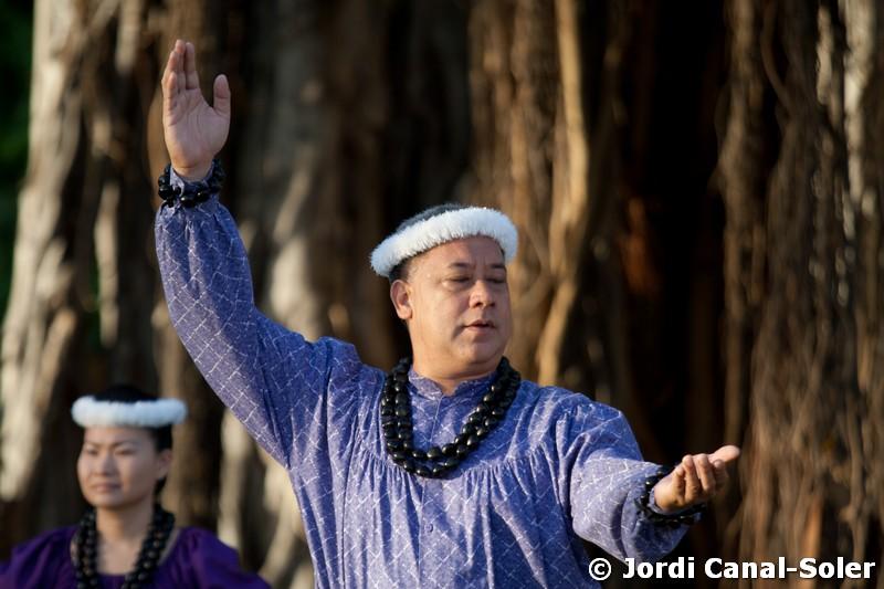 Bailarín de Hula en Hawái