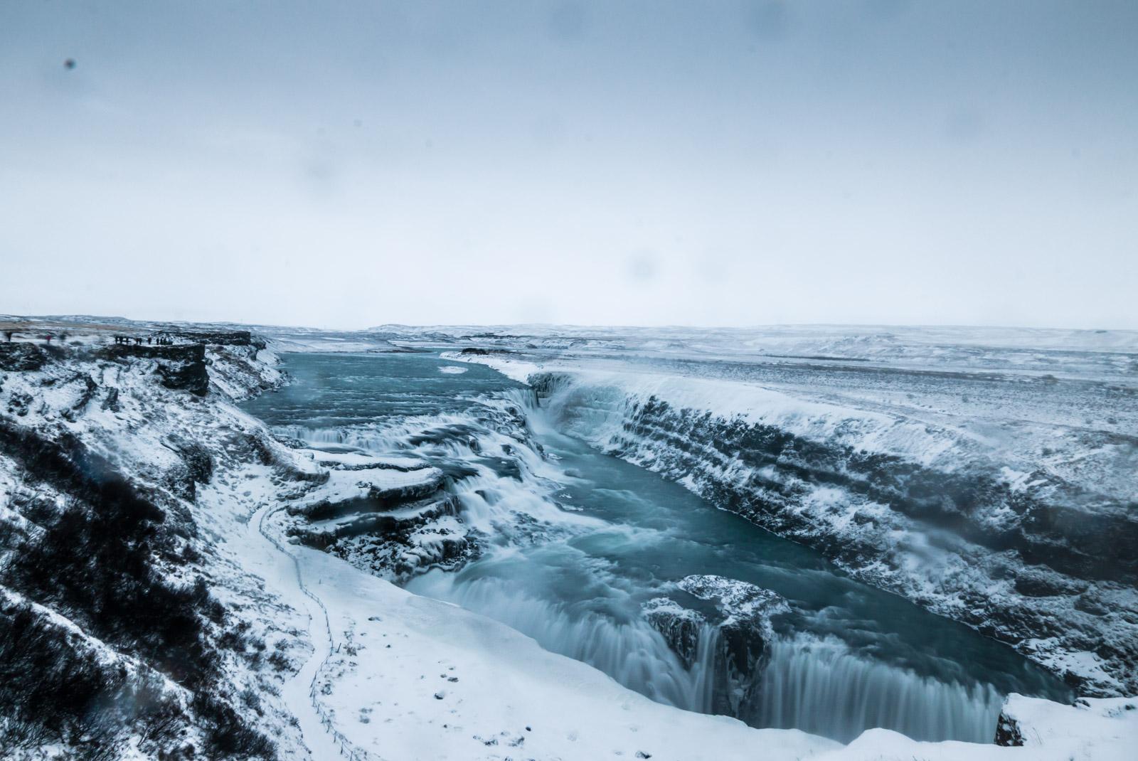 gullfoss winter icelnad